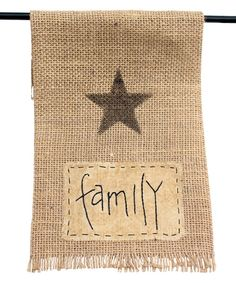 Look at this 'Family' Burlap Oven Hanger on #zulily today!
