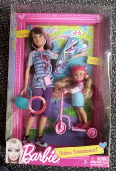 Barbie Sisters Skateboard Chelsea Skipper Doll Set | eBay