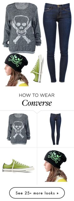 """""""Skull Style"""" by kiki7122 on Polyvore featuring Frame Denim and Converse"""