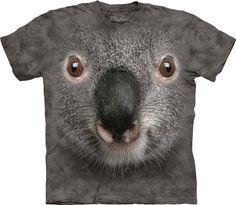 Gray Koala Face T-Shirt at theBIGzoo.com