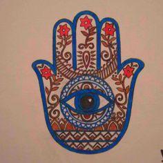 Image Detail for - Indian-fusion Hamsa Tattoo by ~JimmyBlaze on deviantART Hamsa Hand Tattoo, Hand Tattoos, Tatoos, Hamsa Art, Hamsa Drawing, Eye Tattoos, Dragon Tattoos, Dream Tattoos, Tatto Floral