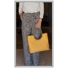 Mustard minimalist tote bag in Italian leather Italian Leather, Leather Handbags, Custom Made, Mustard, Minimalist, Tote Bag, Skirts, Design, Fashion