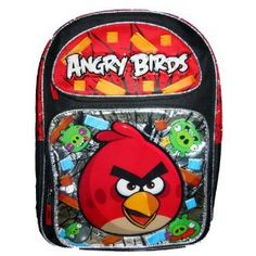 """Angry Bird 16"""" Large Backpack"""