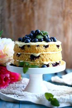 Mustikkapiirakka taipuu näppärästi helpoksi nakukakuksi Sweet Pastries, Piece Of Cakes, Waffles, Bakery, Sweet Treats, Cheesecake, Deserts, Brunch, Goodies