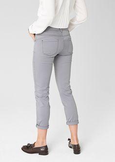 Sienna: Gefärbte 7/8-Jeans, Farbe: smoky grey