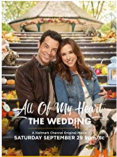 """Sep 2018 - Lacey Chabert, Brennan Elliott and adorable goats return for the wedding event you've been waiting for - """"All of My Heart: The Wedding""""! Be our wedding guest on September 29 only on Hallmark Channel! Family Christmas Movies, Hallmark Christmas Movies, Family Movies, Holiday Movies, Hallmark Holidays, Abc Family, Halloween Movies, Halmark Movies, Great Movies"""