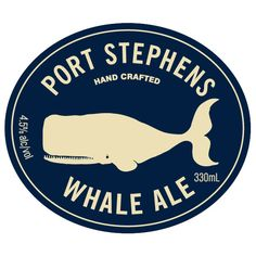 Port Stephens Whale Ale  Designed by David Lancashire Design