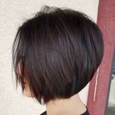 Chin-Length+Brown+Layered+Bob