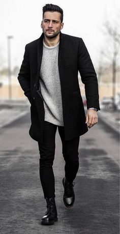 best of mens fashion classy gentleman style mens fashion sweaters, mens b Stylish Winter Outfits, Outfits Casual, Fall Outfits, Street Style Outfits, Mode Outfits, Latest Mens Fashion, Mens Fashion Suits, Men's Fashion, Men Winter Fashion