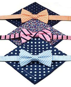 Tommy Hilfiger bow tie and pocket square sets — a pair to suit every personality