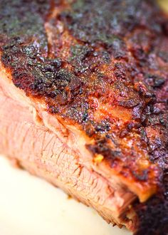 """There's nothing that quite beats a slow smoked piece of lean brisket covered in caramelized spices and hickory smoke. Check out our smoked brisket recipe; it's what some people would call """"Dadgum good,"""" and that's all there is to it. It's on The Home Depot Blog."""