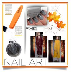 """Fall Nail Art'"" by dianefantasy ❤ liked on Polyvore featuring Christian Louboutin, ncLA, nailart, polyvorecommunity and polyvoreeditorial"