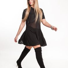 Black dress blouse style Blouse Dress, Blouse Styles, Italy, Black, Dresses, Gowns, Black People, All Black, Dress