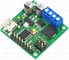 Pololu Jrk 21v3 USB Motor Controller with Feedback (Fully Assembled) The jrk 21v3 motor controller is a highly configurable brushed DC motor controller that supports four interface modes: USB, logic-level serial, analog voltage, and hobby radio control (RC).