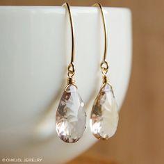 Lilac Purple Ametrine Earrings  14KT Gold Fill  Hook by OhKuol