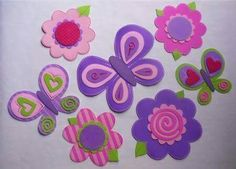 Primavera Foam Crafts, Easter Crafts For Kids, Diy And Crafts, Arts And Crafts, Paper Crafts, Butterfly Crafts, Fabric Ribbon, Felt Flowers, Holidays And Events