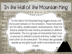 In the Hall of the Mountain King Song Discovery Series by Rocky Mountain Music Music Classroom, Classroom Resources, Slideshow Presentation, Mountain Music, Small Group Activities, Composers, Classical Music, Small Groups, Discovery