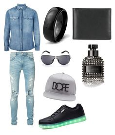 """Draco date night"" by joanne-holland on Polyvore featuring Brunello Cucinelli, West Coast Jewelry, Ettinger, AMIRI, Valentino, 21 Men, men's fashion and menswear"
