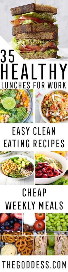 Healthy Lunches for Work - Easy, Quick and Cheap Clean Eating Recipes