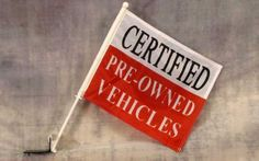 Certified Pre-Owned Advertising Car Window Flag