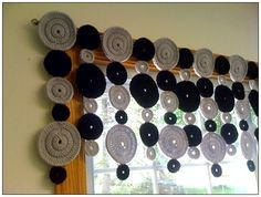 """Crochet Valance""...cute idea!"