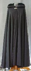 black wool cloak with velvet lining