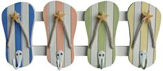 Judith Edwards Designs Beach Color Flip Flop Wall Hooks -