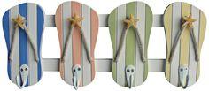 Judith Edwards Designs Beach Color Flip Flop Wall Hooks -