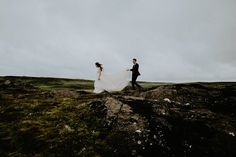 This adventurous couple crossed a destination off of their bucket list by having their wedding in Iceland | Image by Lukas Piatek