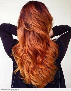 Modny kolor włosów: ognisty balejaż, płomienne czerwien… na Stylowi.pl