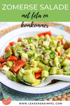 Eat Salade, Salade Healthy, Healthy Salads, Avocado, Lunch Restaurants, Canned Blueberries, Low Carb Recipes, Healthy Recipes, Chicken Spaghetti Squash