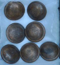 Seven Slave buttons, marked T.H. Porter Dealer in slaves, back marked 1822 HC
