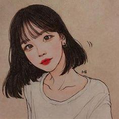 @sooveeny 와...감동실화.. 감사합니다 감사합니다...🙉 Hair Sketch, Painting Of Girl, Kawaii, Illustration Girl, Drawing People, Aesthetic Wallpapers, Art Inspo, Art Girl, Pop Art