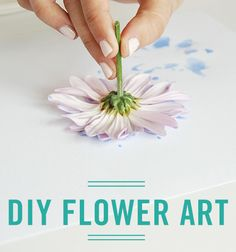 Bring nature into your home in a new way with this simple flower art DIY.