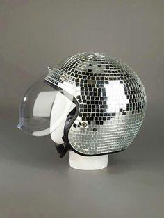 Disco motor cycle helmet :-)))))