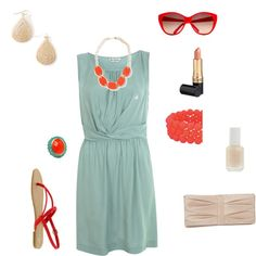 Summer Casual Wedding Outfit, created by mrowin on Polyvore