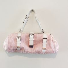 🎉1 Day Sale🎉Cynthia Rowley Satchel Light pink seersucker fabric. Barely used but strap is stained from being stored with other bags. Clean inside. Cynthia Rowley Bags Satchels