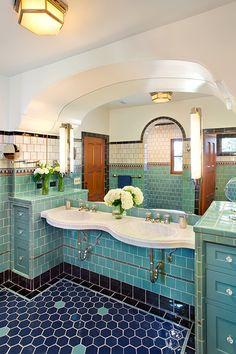 Spanish Colonial tile bath.