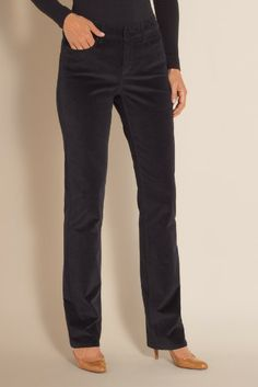 Not Your Daughter's Jeans Marilyn Corduroy Pants - Womens Corduroys, Ladies Corduroys, Slim Cords Soft Surroundings, Corduroy Pants, Pants For Women, Black Jeans, Daughter, Cords, Slim, My Style, Stylish