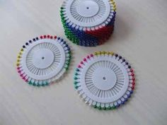 coloured  round head pins £0.50