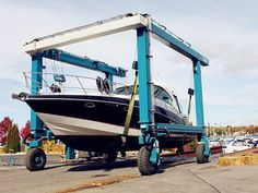 35 ton travel lift is a type of light-duty hoisting equipment. Boat Hoist, Lift Design, Types Of Lighting, Small Boats, Philippines, Remote, Travel, Viajes, Destinations