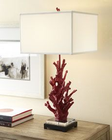 """Shop """"Red Coral"""" Lamp from Regina-Andrew Design at Horchow, where you'll find new lower shipping on hundreds of home furnishings and gifts. Chandeliers, Coral Lamp, Inside A House, Coral Design, Shabby, Relax, Trendy Bedroom, Coastal Living, Coastal Decor"""