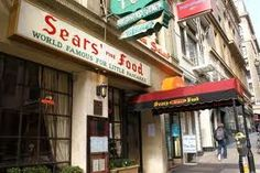 Sears' Fine Food, San Francisco. This was bridal shower weekend & we saw Brian B. from Stray Cats there!