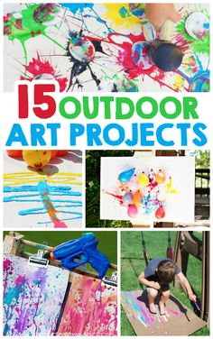 "Outdoor Art Projects For Kids"" these are perfect for summer fun outside!"