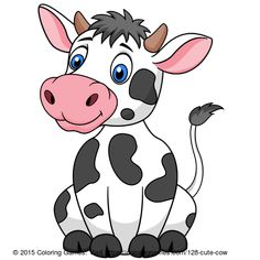 Cute cow #coloring #coloringgames