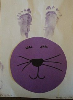 A bunny made by Evie, 9 months old, Artist Of The Day on 04/02/2013 • Art My Kid Made #kidart #easter #bunny
