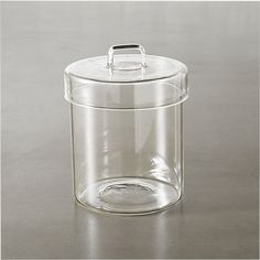 pincher glass canister with lid | CB2