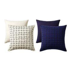IKEA - JASSA, Tyynynpäällinen, Kirjottu kuvio elävöittää tyynyä.Kaksipuolinen: kuvio toisella puolella ja yksivärinen pinta toisella puolella, mikä mahdollistaa tyynyjen ulkonäön muuttamisen.Vetoketjun ansiosta päällinen on helppo irrottaa.
