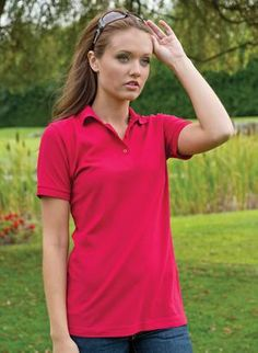 Coal Harbour Silk Touch Ladies Polo from X-it Corporate T Shirt Company, Silk Touch, Casual Wear, Spring 2014, Lady, Mens Tops, How To Wear, Fashion, Casual Outfits