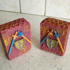 History Soap 👑🛡⛏🏹 Made for my cousin because it's his birthday in October. He is studying history so it gave my mum and me quite a headache… Study History, My Cousin, Handmade Soaps, Soap Making, Studying, Cousins, Decorative Boxes, Give It To Me, October